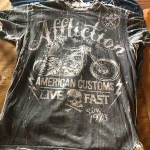Men's affliction shirt reversible